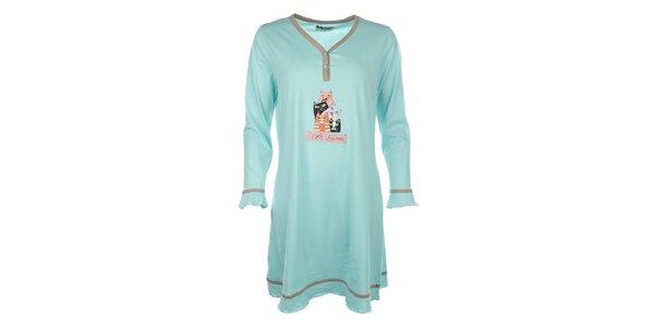 Dámska nočná košeľa s mačičkami Body International