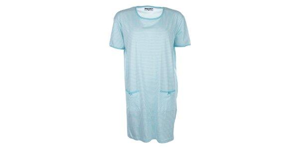 Dámska modro pruhovaná nočná košeľa Body International