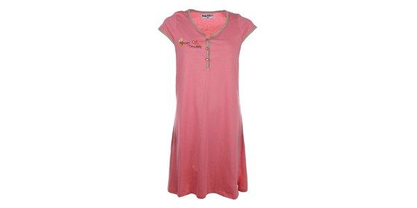 Dámska ružová nočná košeľa s roztomilým medvedíkom Body International