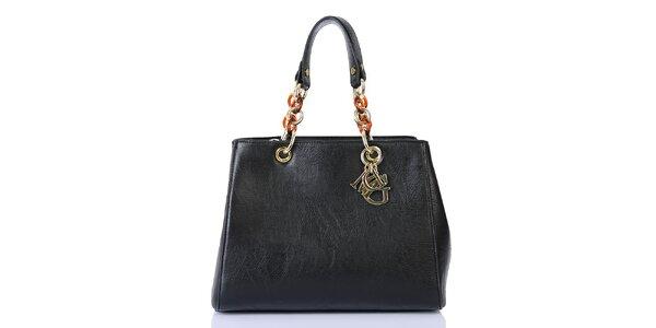 Dámska čierna kabelka so zipsovým zapínaním Giorgio di Mare