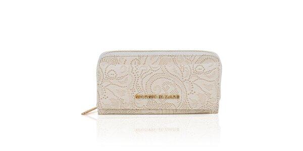 Dámska krémová peňaženka s dekoratívnym vzorom Giorgio di Mare