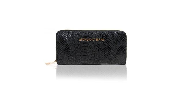 Dámska čierna peňaženka s hadím vzorom Giorgio di Mare