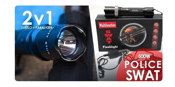 Dobíjacia baterka POLICE so zoomom alebo POLICE s paralyzérom