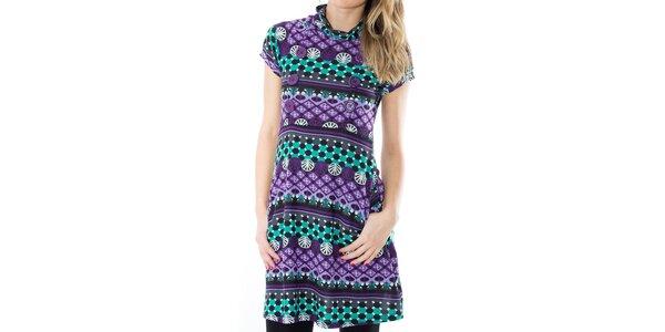 Dámske vzorované šaty s gombíkmi First