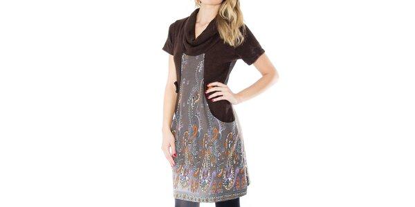 Dámske šaty s farebným vzorom First