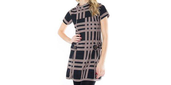 Dámske vzorované šaty s krátkym rukávom First