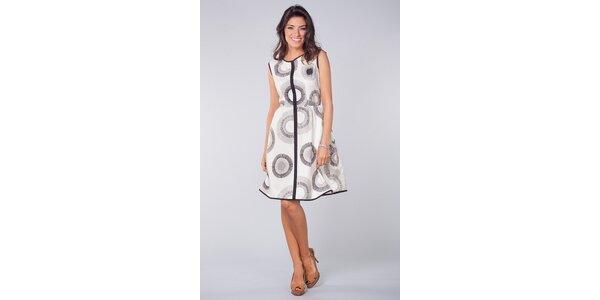 Dámske čierno-biele vzorované šaty Blue Velvet