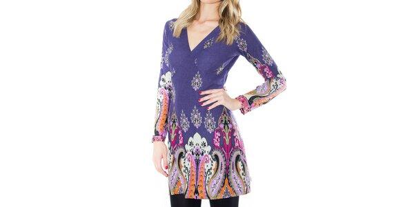 Dámske šaty s abstraktnými kvetmi First