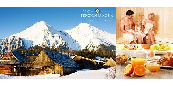 Oddych v Tatrách s polpenziou a saunou