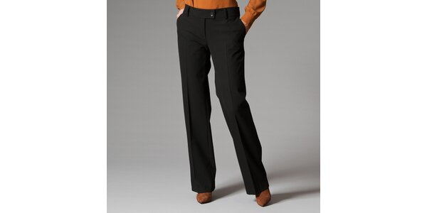 Dámske čierne nohavice s pukmi Pietro Filipi