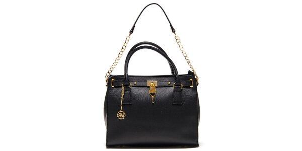 Dámska čierna kabelka s retiazkou Roberta Minelli