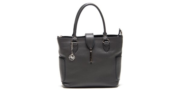 Dámska šedá kabelka s bočnými vreckami Roberta Minelli