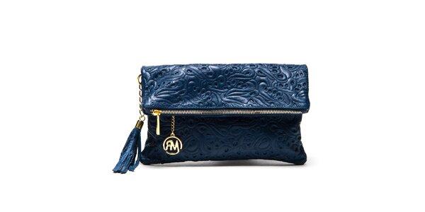 Dámska modrá vzorovaná taštička Roberta Minelli