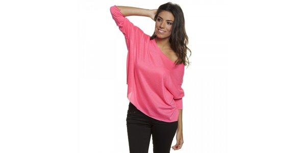 Dámske ružové volné tričko Blue Velvet