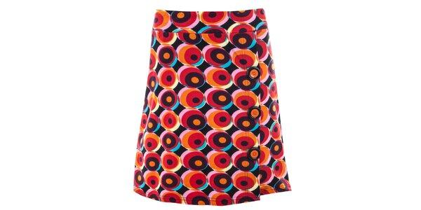 Dámska sukňa s retro červeným vzorom Purple Jam