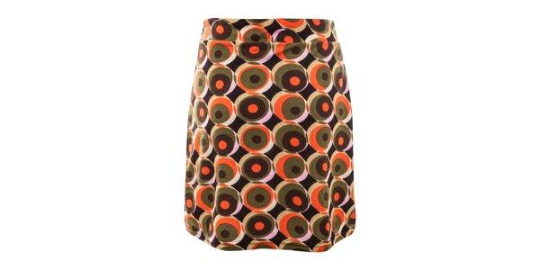 Dámska vzorovaná sukňa s gombíkmi Purple Jam