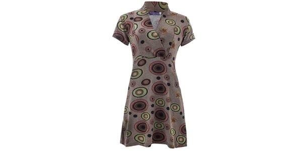 Dámske šaty s farebným vzorom Purple Jam