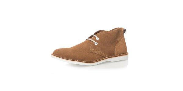 Pánske hnedé členkové topánky Nobrand