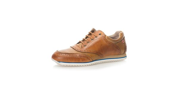 Pánske kožené topánky v hnedej farbe Nobrand