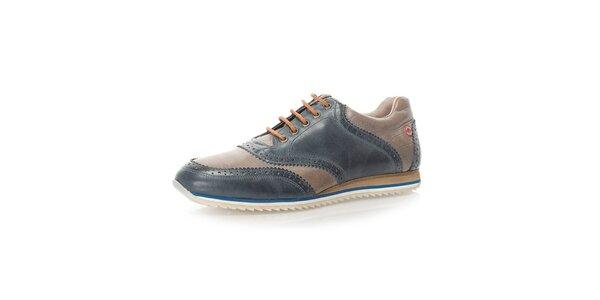 Pánske dvojfarebné kožené topánky Nobrand