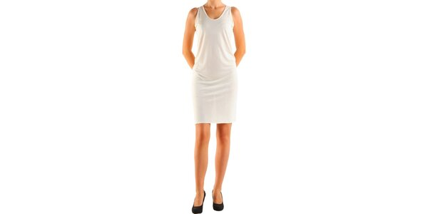Dámske krémové šaty Calvin Klein