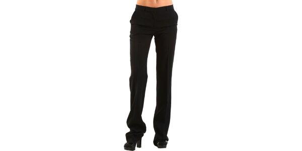 Dámske čierne společenské nohavice Calvin Klein s pukmi