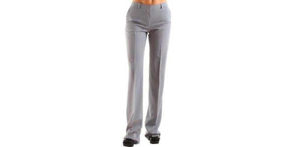 Dámske šedé společenské nohavice Calvin Klein s pukmi