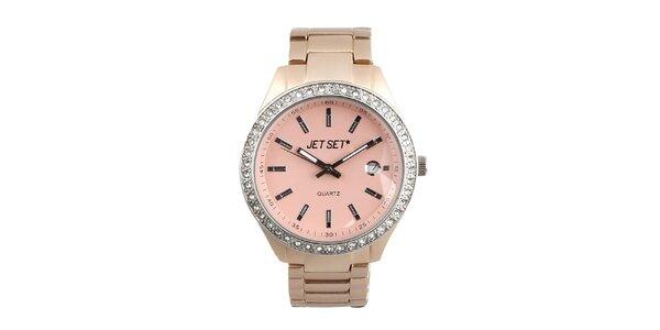 Dámske hodinky s ružovým ciferníkom Jet Set