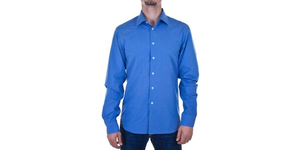 Pánska žiarivo modrá košeľa Calvin Klein