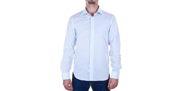 Pánska biela prúžkovaná košeľa Calvin Klein