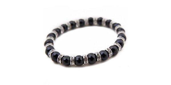 Dámsky náramok z čiernych perál Orchira