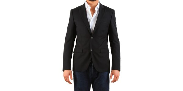 Pánske čierne sako Calvin Klein