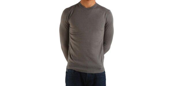 Pánsky ocelovo šedý sveter Calvin Klein
