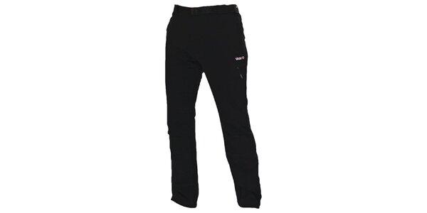 Pánske čierne outdoorové nohavice s opaskom Izas