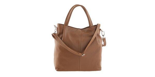 Dámska svetlo hnedá kabelka z kože Ore 10