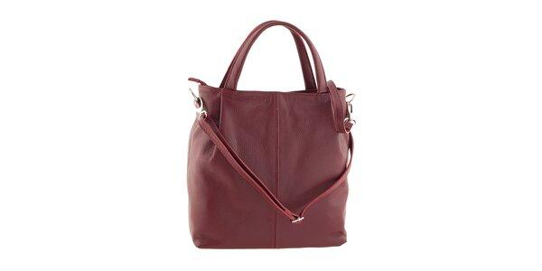Dámska červená kabelka z kože Ore 10