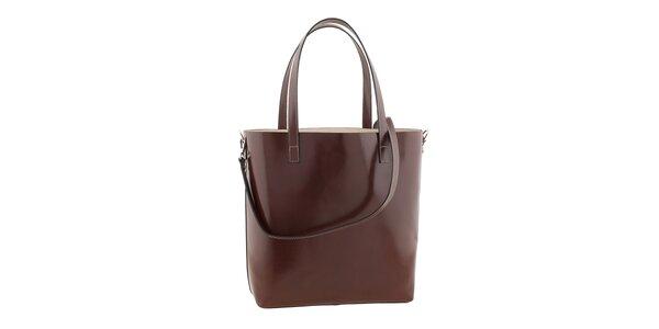 Dámska hnedá kabelka s popruhom Ore 10