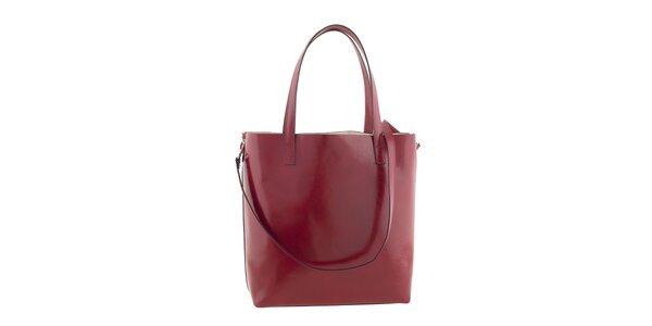 Dámska červená kabelka s popruhom Ore 10