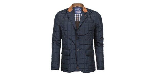 Pánsky tmavo modrý krátky kabát Giorgio Di Mare