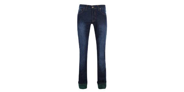Pánske tmavo modré džínsy so šisovaním Giorgio di Mare