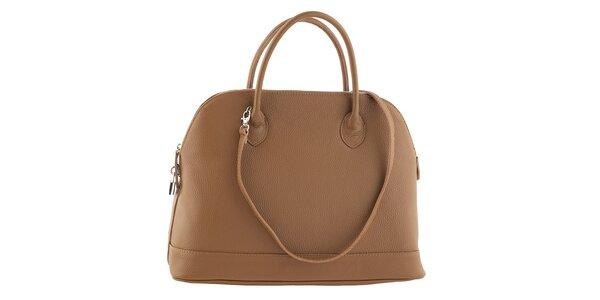 Dámska béžová kožená kabelka Ore 12