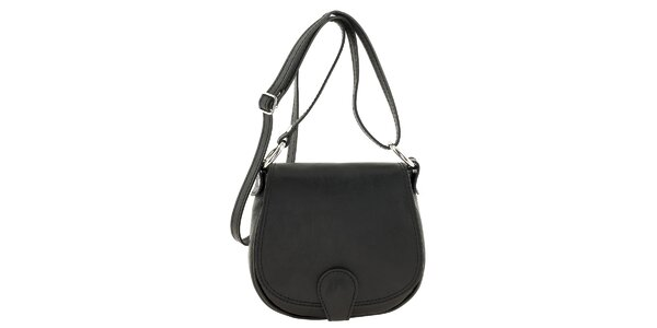 Dámska čierna menšia kabelka cez rameno Ore 10