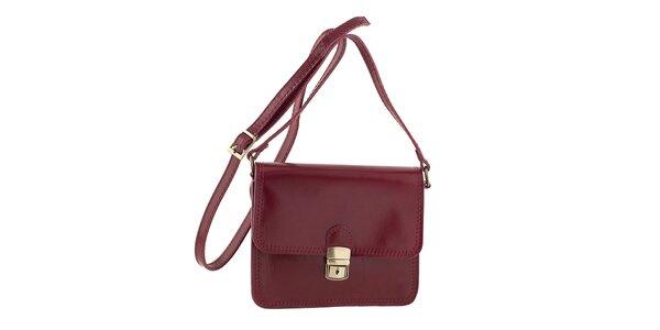Dámska červená kabelka cez rameno Ore 11