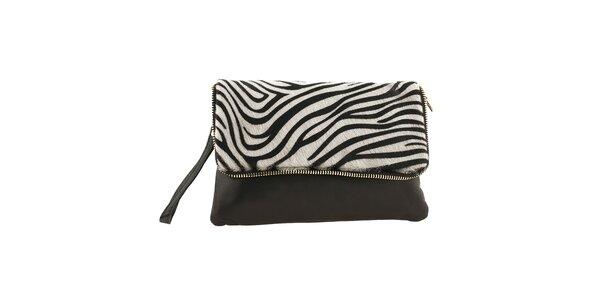 Dámska menšia kabelka so zebrím vzorom Ore 10