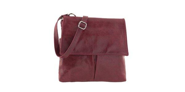 Dámska červená kabelka s vreckami Ore 10