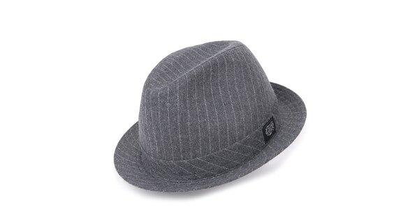 Pánsky šedý klobúk s pruhmi Chico