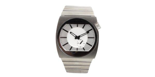 Pánske hodinky z nerezovej ocele s bielym ciferníkom Axcent