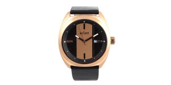 Pánske hodinky s koženým remienkom Axcent