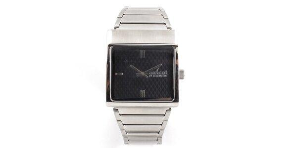 Dámske hodinky s hranatým púzdrom v striebornom tóne Axcent