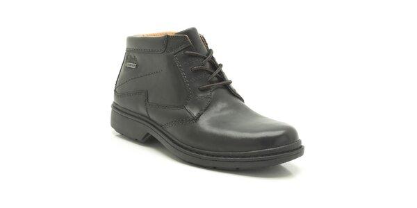 Pánske čierne členkové topánky Clarks